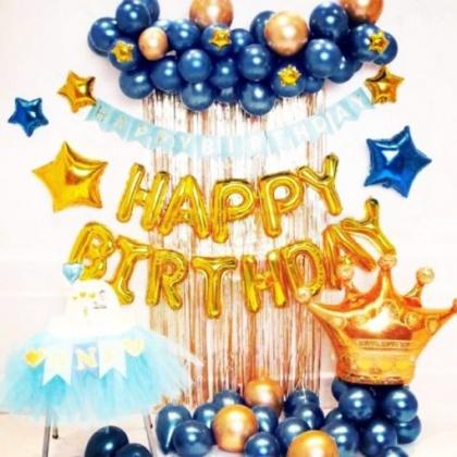 Đầy Đủ Combo Bóng + Rèm trang trí sinh nhật cực đẹp